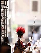 Una guardia svizzera in Vaticano