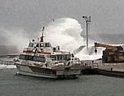 La mareggiata di inizio marzo a Ventotene