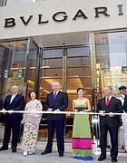 L'inaugurazione del negozio Bulgari a Tokyo nel 2007: a destra Paolo Bulgari, al centro Francesco Trapani, a sinistra Nicola Bulgari (Ansa)