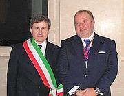 Il sindaco Alemanno con Mancini