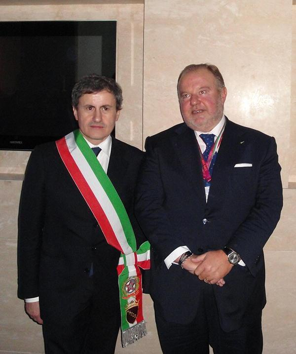 Alemanno con Mancini