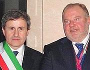 Il sindaco Alemanno con l'ex ad di Eur Spa, Mancini, ora in carcere