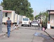 Il campo nomadi di via di Salone, uno di quelli finiti sotto inchiesta (Proto)