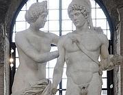 Le statue de-restaurate nel museo delle Terme di Diocleziano (Afp)