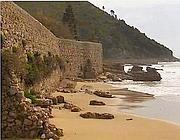 La spiaggia sparita nei pressi della Grotta di Tiberio a Sperlonga