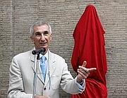Il sovrintendente Broccoli alla presentazione del restauro (Jpeg)
