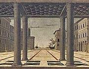 Frencesco di Giorgio Martini, Città ideale, 1495 ca, Berlino Gemäldegalerie