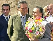 Alberto Sordi con Rutelli