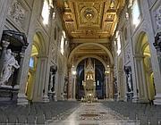 L'interno della basilica (Ansa)
