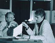 In una foto d'archivio, le prove dello spettacolo con Massimo De Francovich