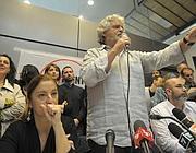 Grillo domenica mattina all'Altra Economia a Roma (Jpeg)