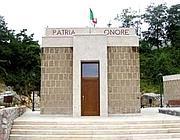 Il mausoleo a Graziani ad Affile, in provincia di Roma