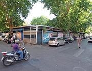 La piazza prima del trasferimento del mercato (foto Jpeg)