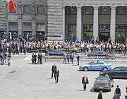 Una veduta dall'alto di Piazza Colonna (Proto)
