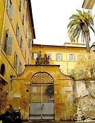 L'ingresso dell'istituto religioso Villa Lante al Gianicolo