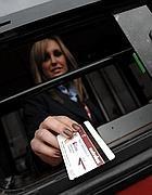 Una biglietteria mobile dell'Atac