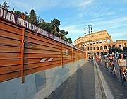 Cantieri della Metro C vicino al Colosseo (Jpeg)