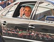 Il Papa arriva a santa Maria Maggiore (Jpeg)