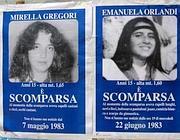 I volantini per la ricerca di Mirella e Emanuela Orlandi (foto Ansa)