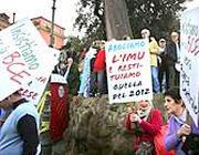 Una protesta contro l'Imu nella Capitale (Eidon)
