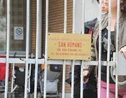 L'entrata della scuola San Romano (foto Proto)