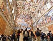 Turisti e in visita alla  Cappella Sistina