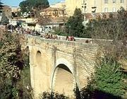 Il Ponte Clementino di Civita Castellana (Ansa)
