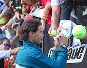 Nadal firma autografi al Foro Italico (Faravelli)