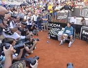 Folla in campo e sugli spalti agli Internazionali di Tennis (LaPresse)