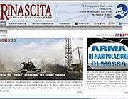 La homepage di «Rinascita»