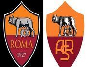 Il logo della Roma: il nuovo (a sinistra) e il vecchio