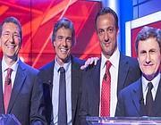 I 4 big candidati a diventare sindaco di Roma: da sinistra, Marino, Marchini, De Vito, Alemanno