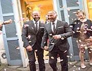 Giuseppe e Massimilianola coppia di gay «sposatisi» a maggio in un hotel di Roma