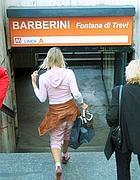 Un ingresso della stazione Barberini