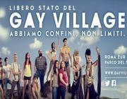Il manifesto con lo slogan del Gay Village