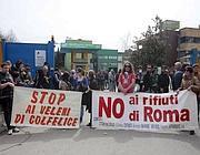 Una delle proteste a Colfelice (Eidon)