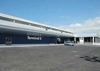Il terminal 5 dell'aeroporto di Fiumicino