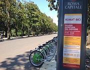 Il noleggio Roma-in-bici a Villa Borghese deserto sabato 13 luglio (Zanini)