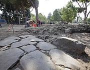Gli scavi nel parco di Ostia Antica