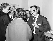 Giangiacomo Feltrinelli all'inaugurazione nel '64 (foto Istituto Luce)