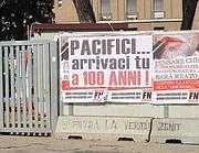 Il manifesto in piazza Augusto Imperatore (Jpeg)