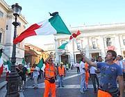 Una manifestazione dei dipendenti Metro C in Campidoglio (foto Jpeg)