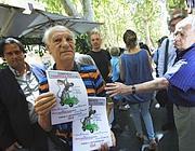 Via Merulana, una protesta anti pedonalizzazione dei Fori (foto Jpeg)