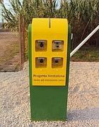 Una stazione di ricarica per veicoli elettrici sull'isola