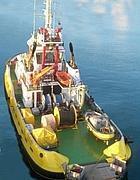 Una delle imbarcazioni della flotta