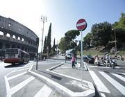 L'incrocio con la nuova viabilità a piazza del Colosseo (foto Jpeg)