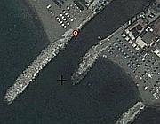 La foce del canale Magliano a Marina dei Ronchi (Massa)