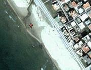 La spiaggia alla foce del Fiumarelle, a Mondragone