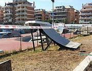 Il sequestro dello skate park The Spot a Ostia Nuova (foto Faraglia)