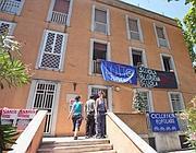 Protesta degli inquilini Ater alla Garbatella (Jpeg)